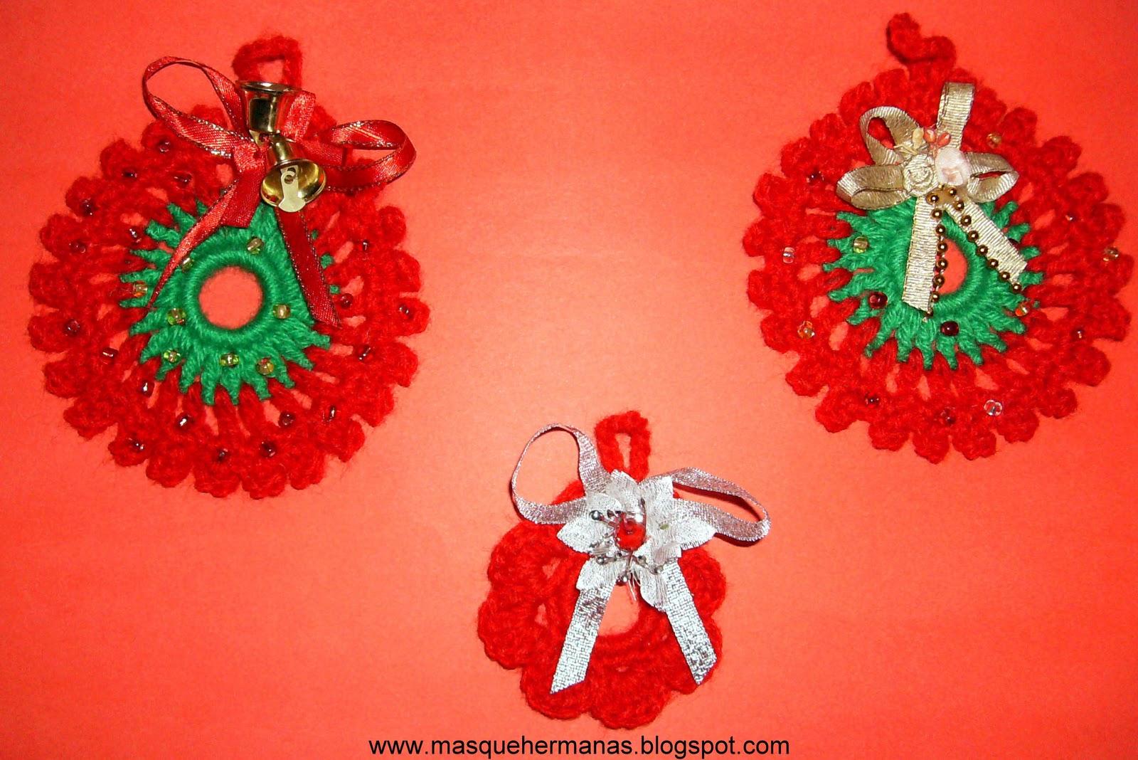 M s que hermanas adornos navide os en ganchillo y - Adornos navidenos crochet ...