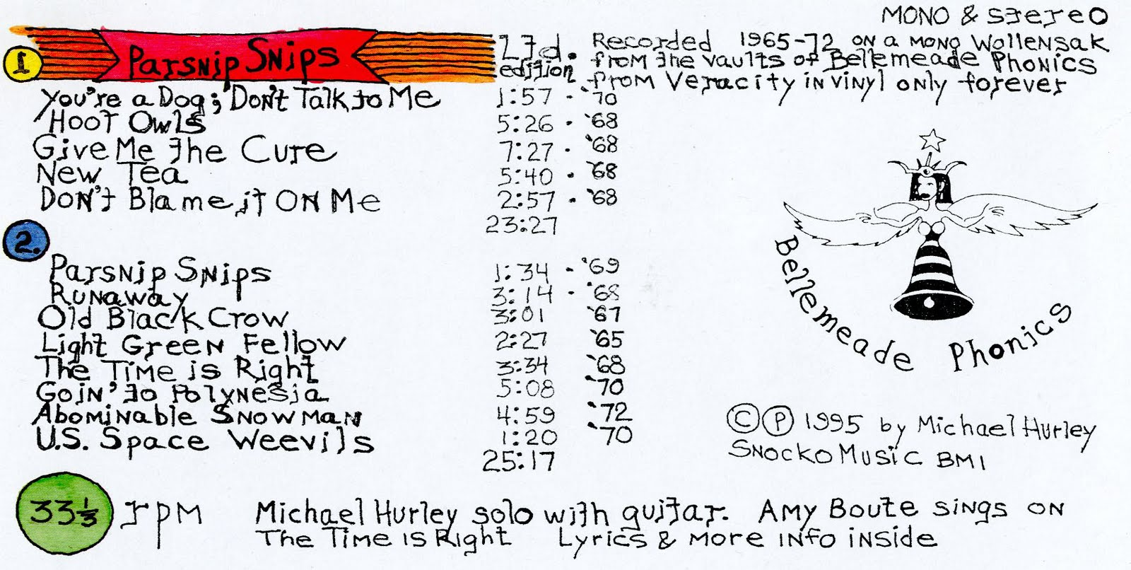 Michael Hurley Parsnip Snips