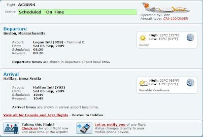 Air canada web check in