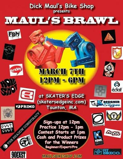 dick maul's bike shop maul's brawl bmx contest flyer