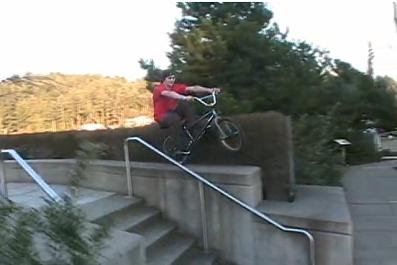 screen grab from 'sundays with davey' bmx video