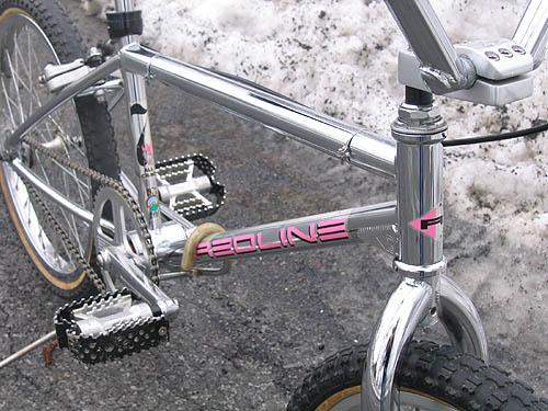 1991 redline 720 bmx bike - frame detail