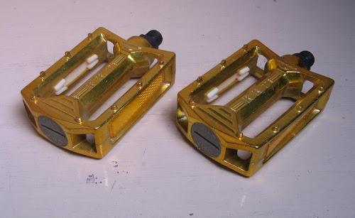 nos gold 9/16-inch kkt amx bmx pedals