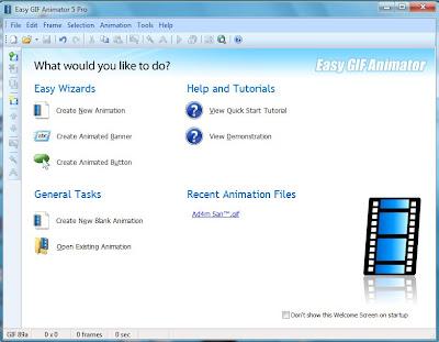 Easy GIF Animator 5 pro menu