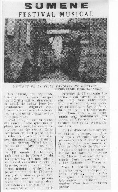 Articles de journaux - Le cinquantenaire de la Fanfare