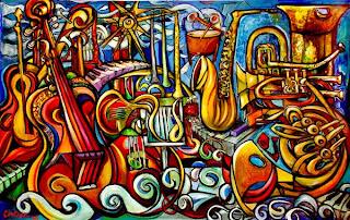 """Схема вышивки  """"Музыка """": таблица цветов."""