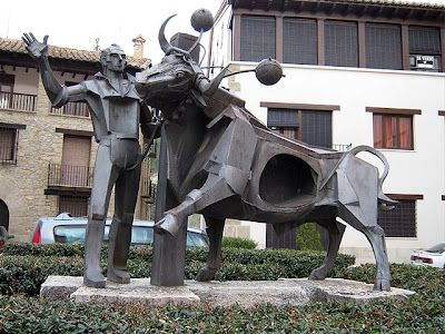 El toro embolao es parte del folcklore.