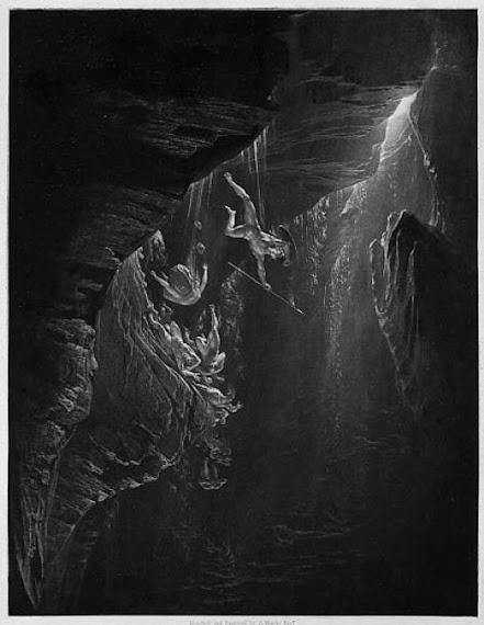John Martin, 19th century English painter, 1825, Fall of the Rebel Angels
