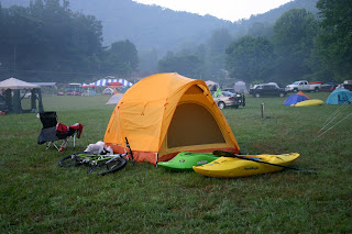 Camp site at Smoky Mountain Meadows campground