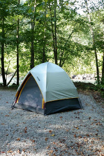 Kevin's tent at Thunder Rock Campground, Tennessee