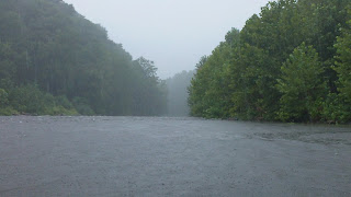 Pouring Rain on the Pigeon River