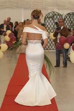 Costas do vestido de noiva