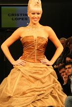 Vestido noiva dourado e castanho