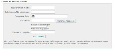 Add a Domain on HostGator