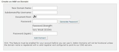 Add a Domain on HostGator