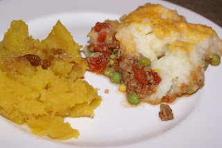 Shepherds Pie and Acorn Squash