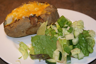  Twice Baked Potatoes with Salad