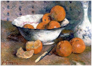Natureza morta de laranjas, de Paul Gauguin, 1880