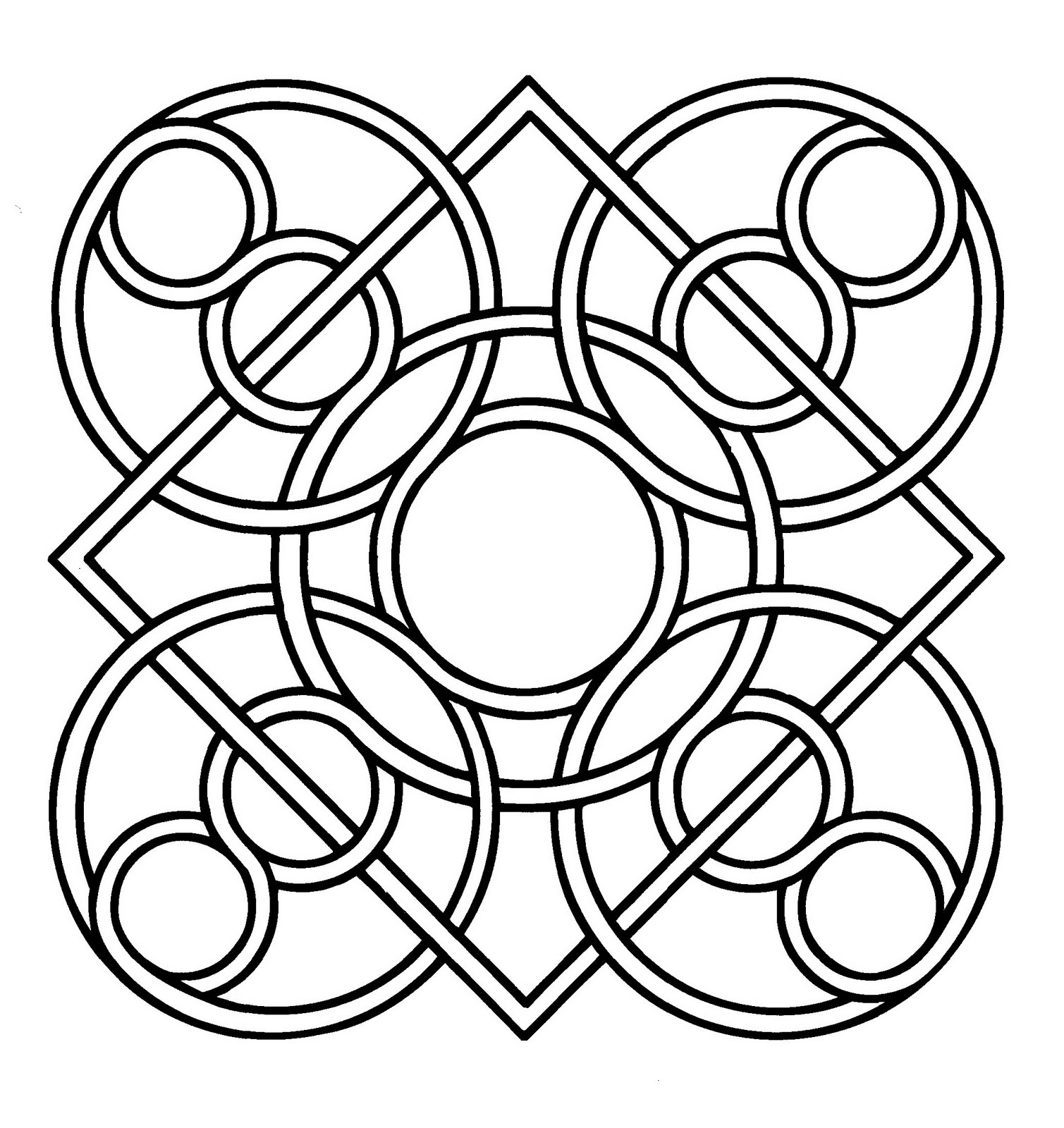 Mandalas Para Pintar: Mandala árabe I