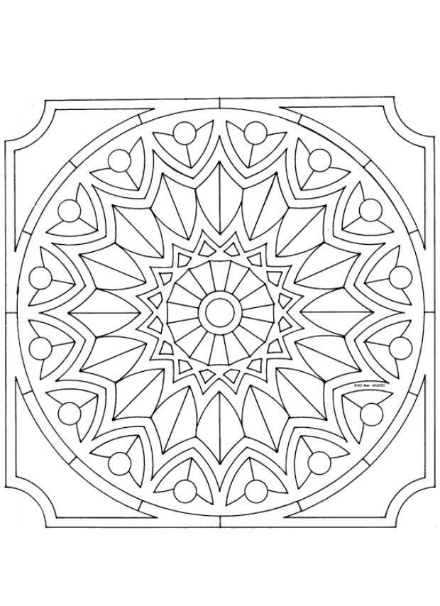 Mandalas Para Pintar: Mandala para principiantes