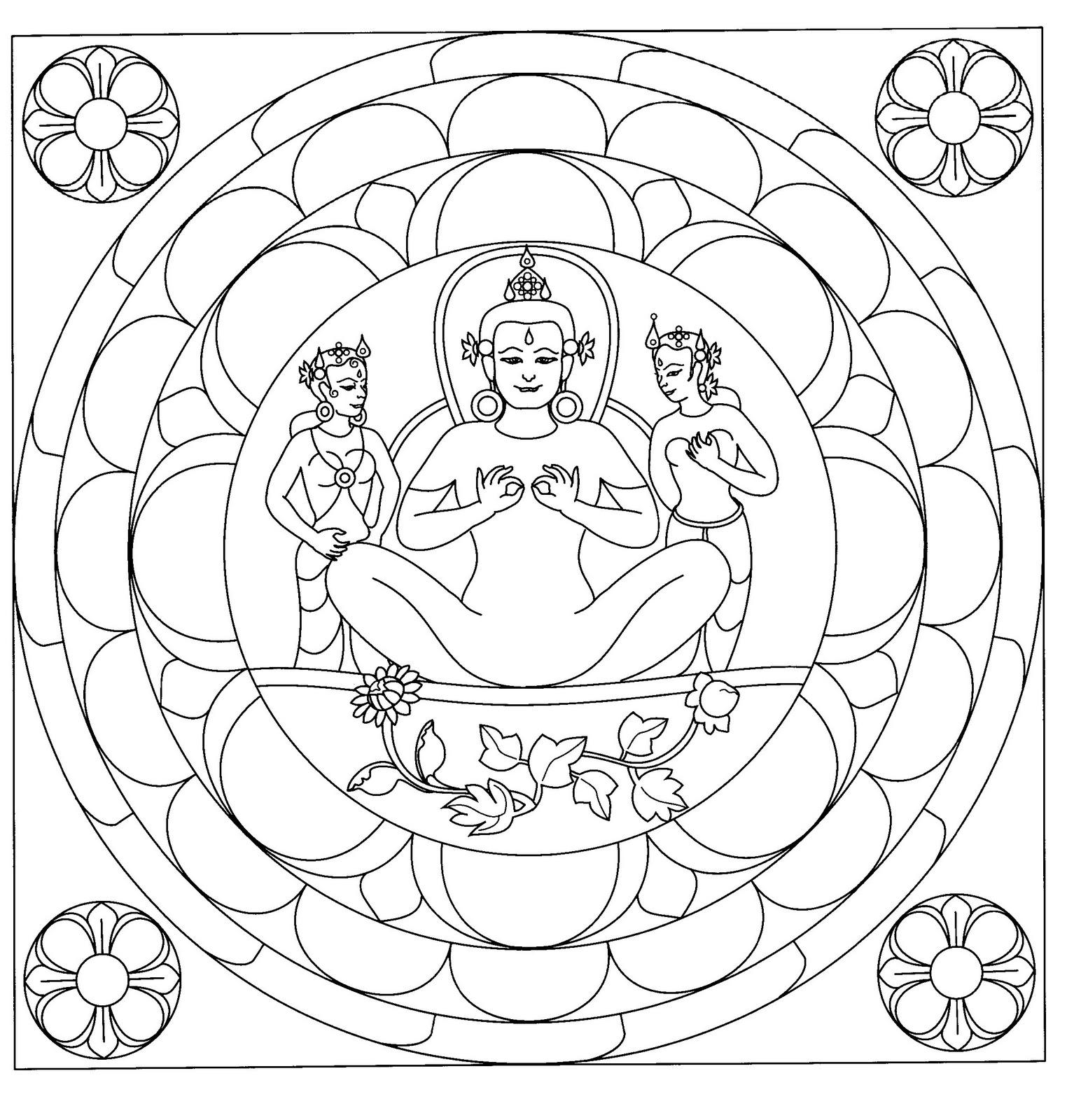 Mandalas Para Pintar: Diosa de la paz interior