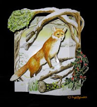 Winter Wildlife 3D pop-up Christmas Card: Fox