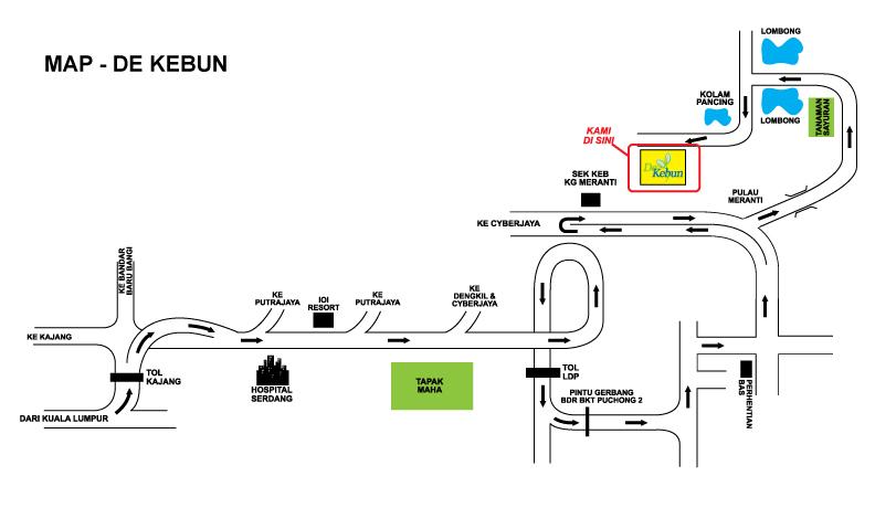 MAP TO DEKEBUN SDN BHD FARM