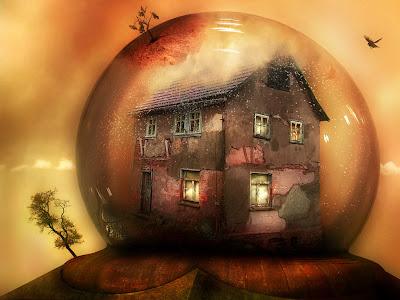 casa balon rosu