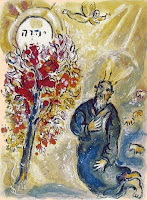Marc Chagall: Moses and the Burning Bush