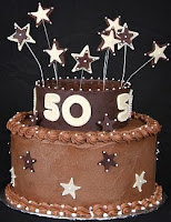 Fiftieth Birthday Cake