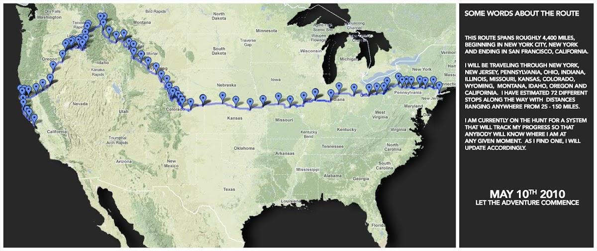 4,400 miles. ≈ 72 days.