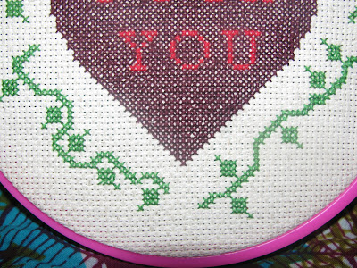 cross stitching photo