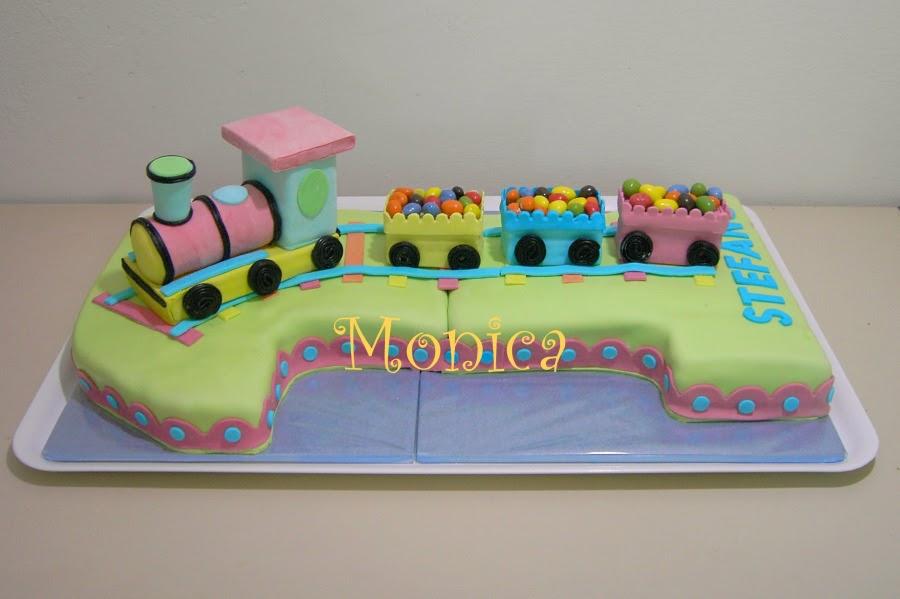 Monica torte e dolci decorati number one cake torta for Decorazioni torte trenino thomas