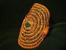 Pulsera espiral de cobre combinada tejida a 4 hilos
