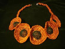 Collar florones de cobre combinado