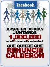 UN MILLON POR LA RENUNCIA DE CALDERON