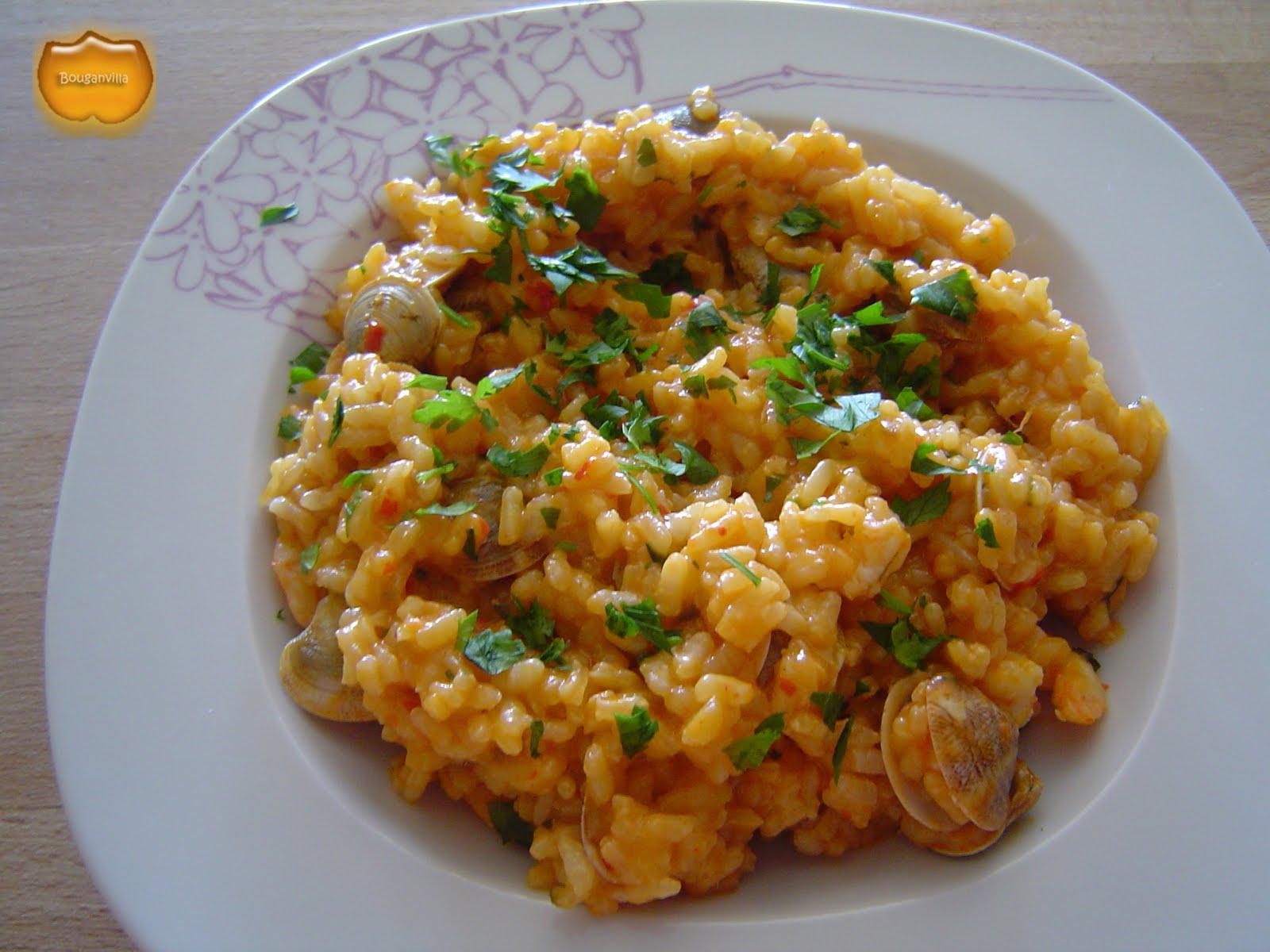Los caprichos de la bouganvilla capricho 56 arroz - Arroz con gambas y almejas ...