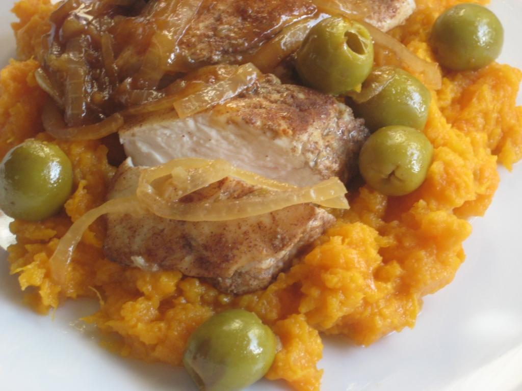 The Goddess's Kitchen ♥: Moroccan Chicken with Sweet Potato Mash