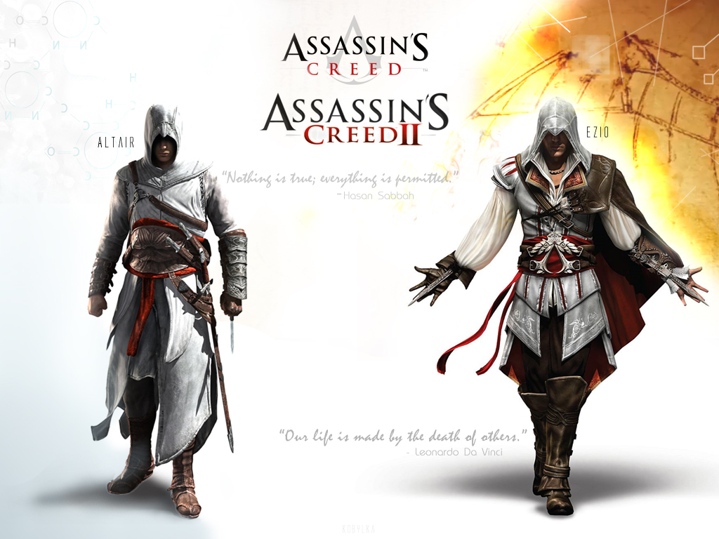 Assassin's Creed, 1, 2 and