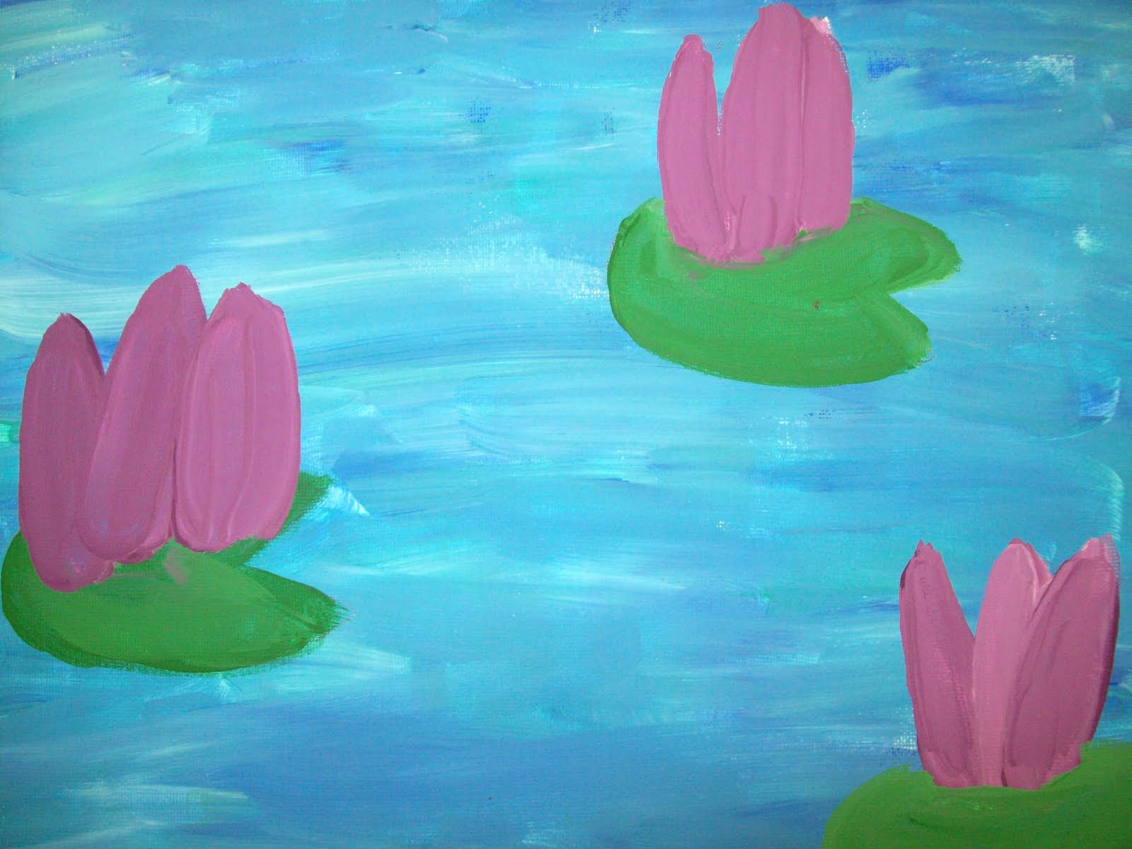 Art with mr e water lilies 4th grade water lilies 4th grade izmirmasajfo Gallery
