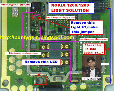 Nokia 1200 Light Problem Solution Without Light IC With Jumpers ~ IMET