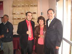 Hno. José Aceituno, hna Irma y Pastor Julio Barrientos