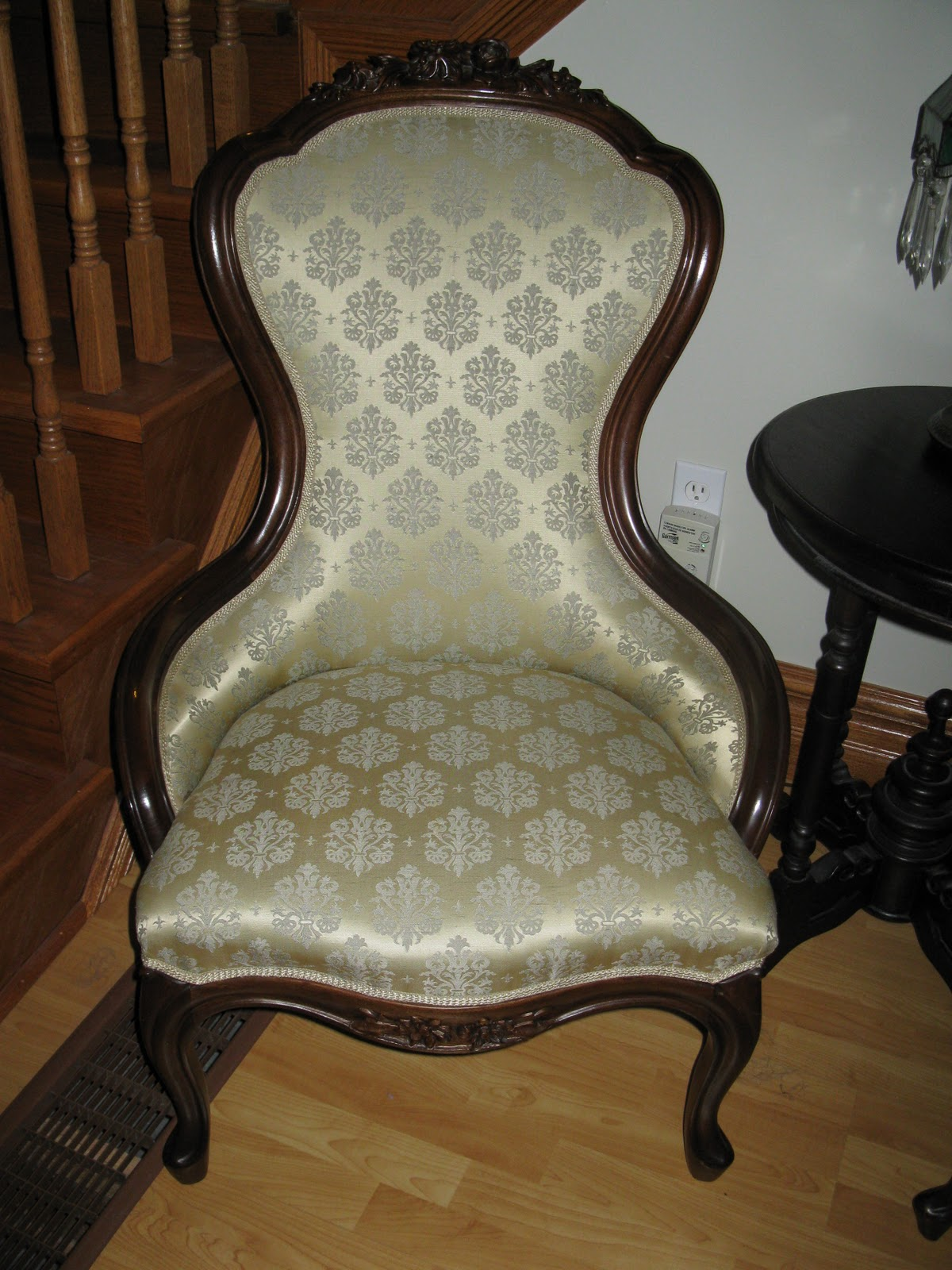 antique hunter civil war era parlor chairs