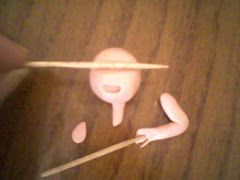 Adım adım bebek yüzü yapımı,resme tıklayın.construction phase for the baby face fimo Click on image