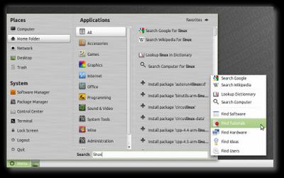 Linux Mint 10 Julia RC Thumb_mintmenu2
