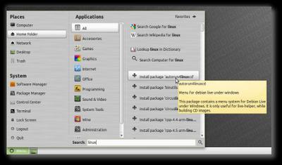 Linux Mint 10 Julia RC Thumb_mintmenu