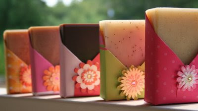 Handmade packaged soaps by Nikki Hoefer