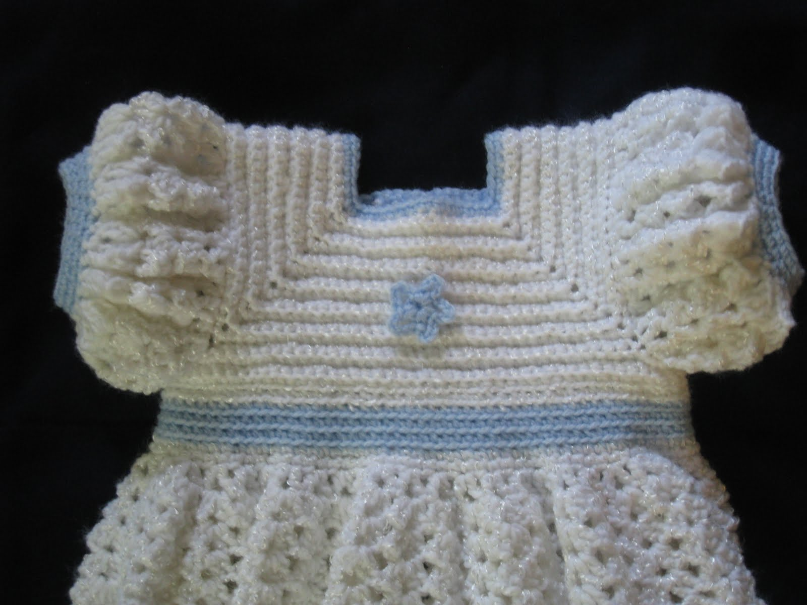 Crochet Ruffled Baby Dress Pattern : My creativity: A Ruffled Crocheted Baby Dress