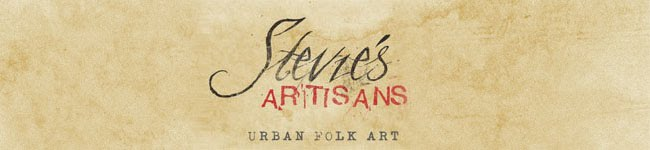 Stevie's Artisans Urban Folk Art with Traveling Trudeau