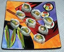 Wild Salmon, Avocado, Cucumber and Japanese Daikon Sushi